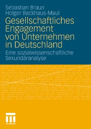 Cover: Gesellschaftliches Engagement von Unternehmen in Deutschland